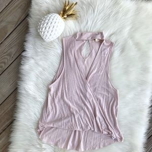 NWT Urban Outfitters Faux Wrap Sleeveless Top Rose